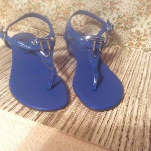 BCBGENERATION Between Toe Blue Sandals Sz 7.5/37